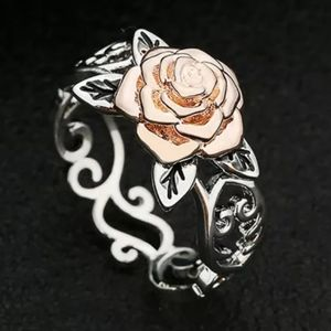 Jewelry - 🆕️ Silver & Rose Gold🌹Filigree Rose Ring